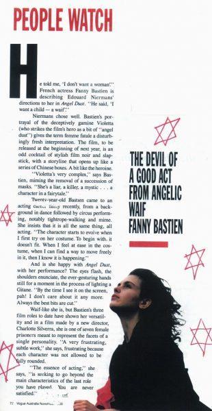Fanny Bastien : Article de presse australie