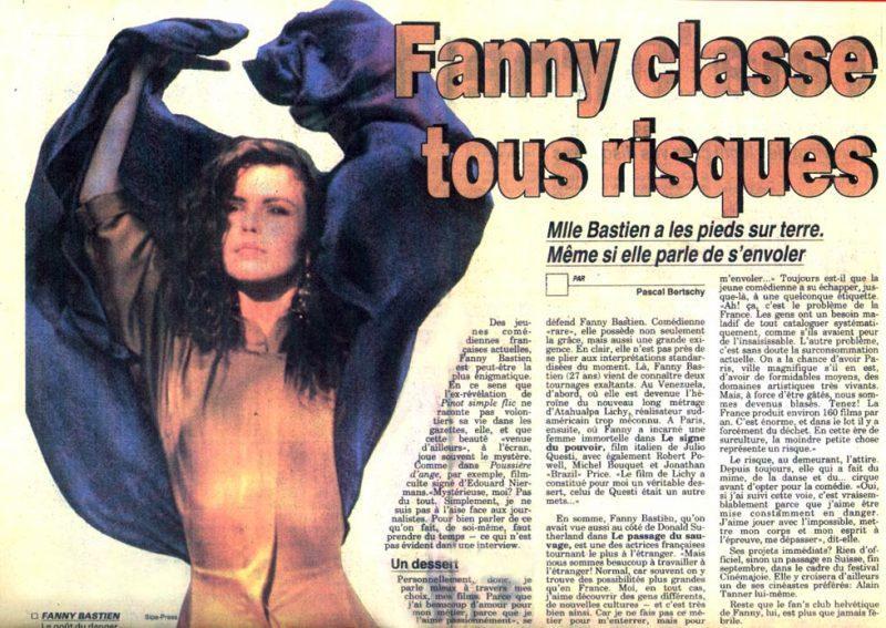 Fanny Bastien : Article de presse