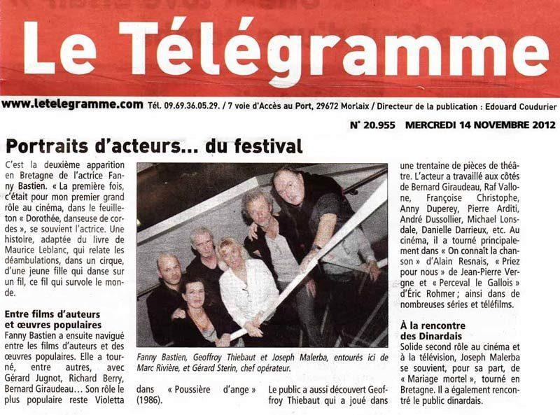 Fanny Bastien : Article de presse Le Telegrame
