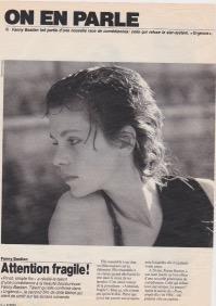 Fanny Bastien : Article de presse par Patricia Gnaso