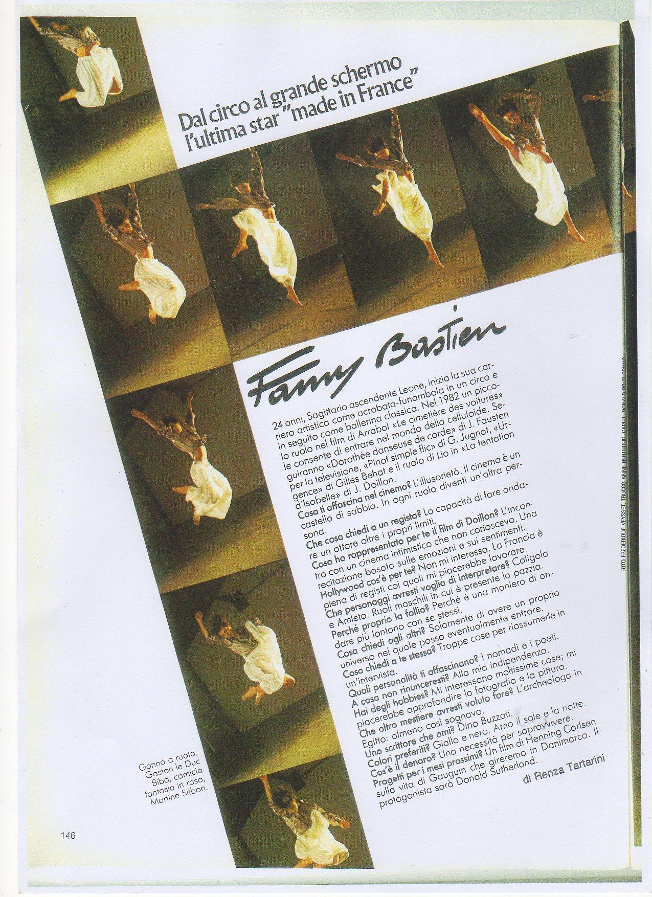 Fanny Bastien Actrice Crédits : frederique Veysset
