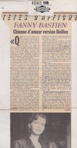fanny bastien article presse liberation