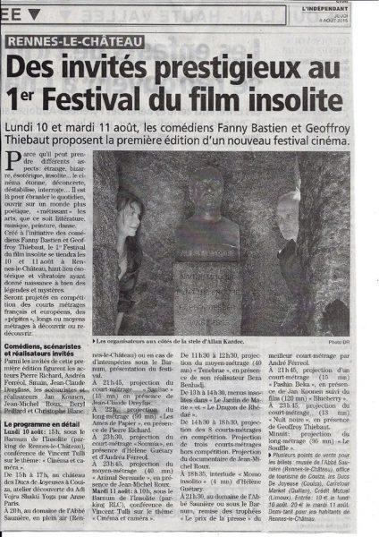 festival du film insolite de renens le chateau 2015